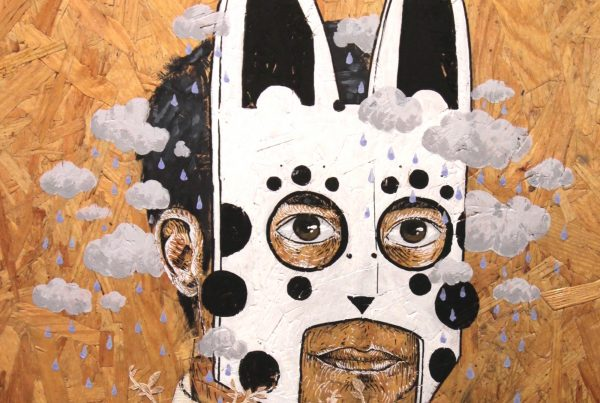 peinture street art agrume pour offside gallery au stade de Lyon