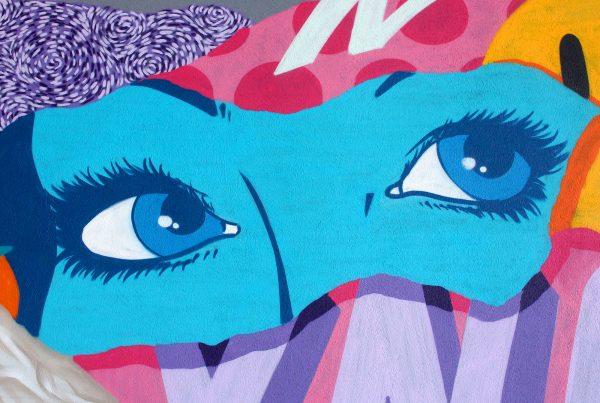 peinture street art ynot pour offside gallery au stade de Lyon