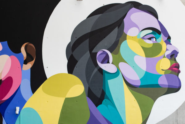 peinture street art alber pour offside gallery au stade de Lyon